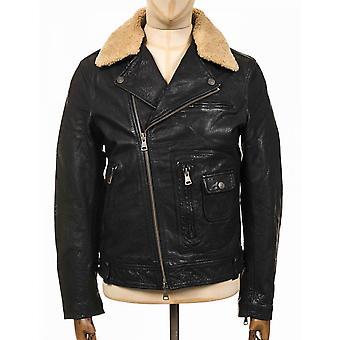 Deus Ex Machina Nail Leather Jacket - Black
