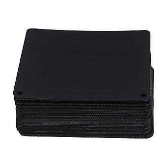 Electronic filters 50pcs 9cm black pvc pc cooler fan case cover dust proof mesh grill dust filter ppm-4483