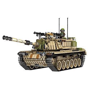Military War M60 Patton Main Battle Tank Magach Model Bricks Building  1753Pcs|Blocks