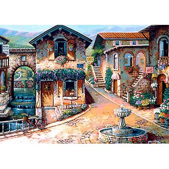 Bluebird The Fountain on the Square Jigsaw Puzzle (1000 Pieces)
