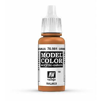 Vallejo Model Color 17ml Acrylic Paint - 981 Orange Brown