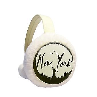 New York Printed Ear Warmer