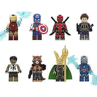 Marvel! The Avengers! Assembled Building Block Doll Set! Kids Gift!