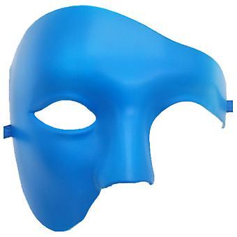Pvc Cosplay Mask Plastic Half Face Punk Carnival Men's/women's Accessories-sky Blue
