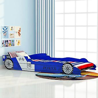 Chunhelife Lit voiture de course pour enfants 90x200 Cm Bleu