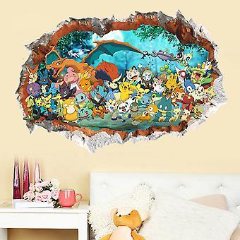 Pokemon Pikachu Seinä tarrat Seinämaalaukset Taustakuva 90x60cm