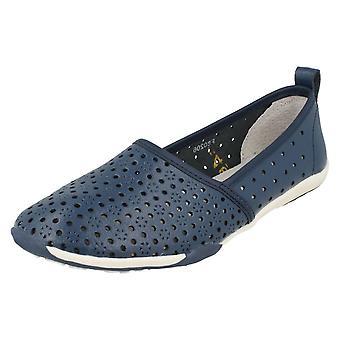 Dames tot aarde plat Comfort Slip op schoenen F80206