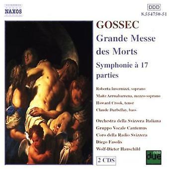 F. Gossec - Gossec: Grande Messe Des død fisk / Symphonie 17 partene [DVD] USA import