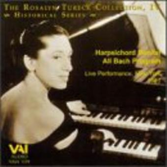Rosalyn Tureck - The Rosalyn Tureck Collection, Vol. 4: Harpsichord Recital All Bach Program [CD] USA import