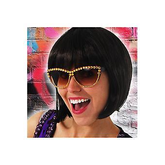 Gouden disco bril bril