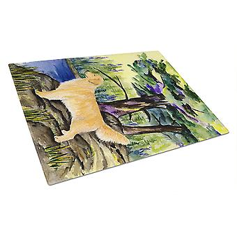 Carolines Treasures  SS8426LCB Golden Retriever Glass Cutting Board Large
