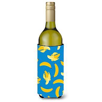 الموز على زجاجة النبيذ الأزرق بيفيرجي عازل نعالها