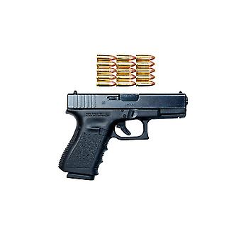 Пистолет Глок модель 19 с 9 мм боеприпасов печать плаката, Терри MooreStocktrek изображения