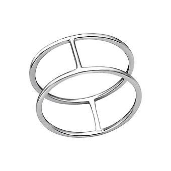 Dubbele lijn - 925 Sterling Zilver platte ringen - W35703X
