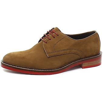 London Brogues Stanley Suede Mens Lace Up Derby Shoes  AND COLOURS