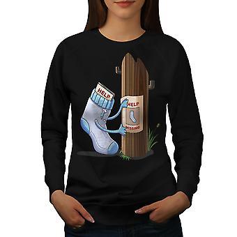 Funy Sock Wanted Women BlackSweatshirt | Wellcoda, mitä sinä olet?