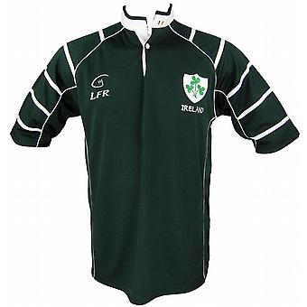 アイルランドのシャムロック ダーク グリーン通気性ラグビー シャツでライブ ラグビー サイズ XS - 3 xl
