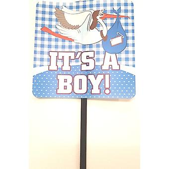 It's A Boy Garden Sign