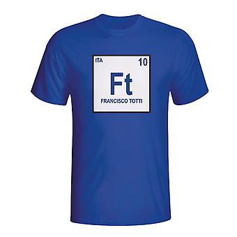 פרנצ'סקו טוטי איטליה הטבלה המחזורית-חולצת טריקו (כחול)