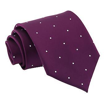 Fioletowy Pin Dot klasyczny krawat