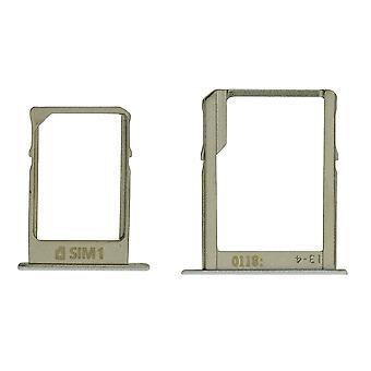Voor de Samsung Galaxy A7 SM-A700 dubbele SIM kaart lade wit