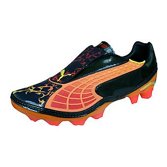 Mens Puma Firm Ground Football Boots V1.10 Tricks i FG Soccer Cleats - Navy and Orange