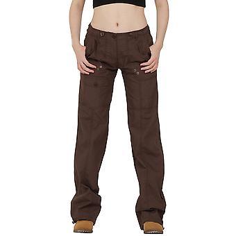 Lightweight Cotton Wide Leg Cargo Trousers