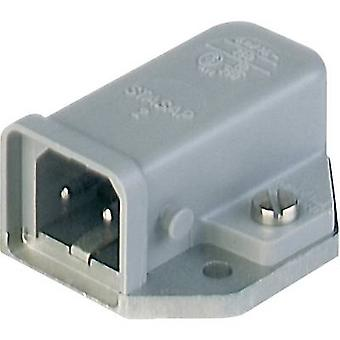 Hirschmann STASAP 2 B Mains connector STASAP Series (mains connectors) STASAP Plug, horizontal mount Total number of pins: 2 + PE 16 A Grey 1 pc(s)