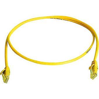 Telegärtner RJ45 Networks Cable CAT 6 U/UTP 3.00 m Yellow Flame-retardant, Halogen-free