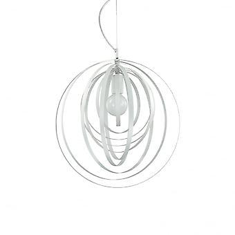 Ideal Lux Disco moderno anillo ajustable blanco globo colgante