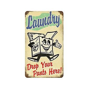 Drop pralni swoje spodnie zardzewiały Metal Zarejestruj 360 X 205 Mm