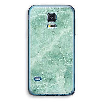 Samsung Galaxy S5 Mini transparentes Gehäuse (Soft) - grüner Marmor