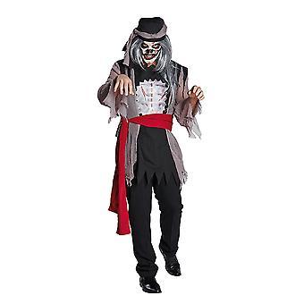 Zombie Halloweenseeräuber zombie kostyme horror pirat pirat kostyme for menn
