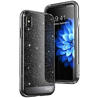 iPhone Xs Max Case, [Unicorn Beetle Stella Series] Premium Glitter Case with Built-in Screen 2018 Release (Black)