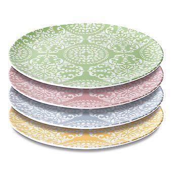 Conjunto de BergHOFF compuesto por 4 platos decorados redondos