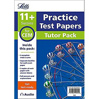 11+ Mock Test Papers Tutor Pack for CEM Inc Audio Download (Letts 11+