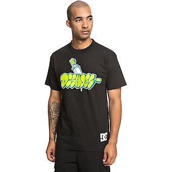 DC Throwy Kurzarm T-Shirt in schwarz