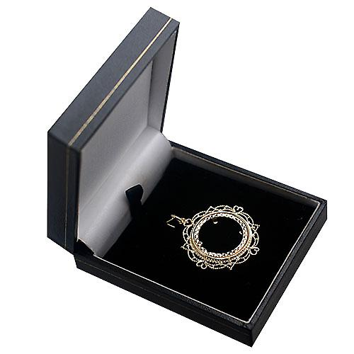 9ct Gold-35mm voller Sovereign-Halterung mit einem Diamantschliff Lünette Anhänger