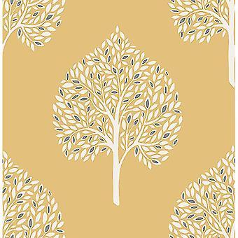 Leaves Wallpaper Leaf Trees Luxury Heavyweight Modern Annabelle Fine Decor