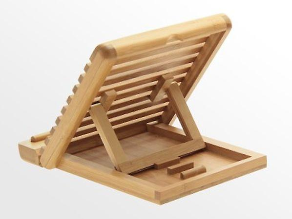 Woodquail Bamboo Adjustable iPAD Holder / Stand Desktop Organiser