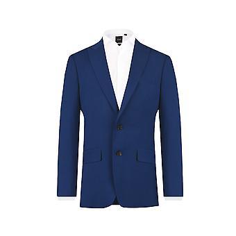 Dobell Mens Bright Blue Suit Jacket Slim Fit Peak Lapel