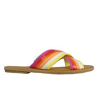 Toms calçados femininos W Viv slide Persimon