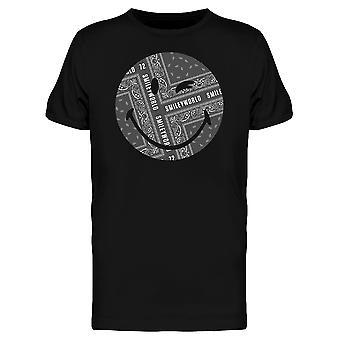 SmileyWorld Winking Face Kerchief Graphic Men's T-shirt