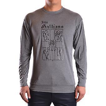 John Galliano Ezbc189013 Men's Grey Cotton Sweater
