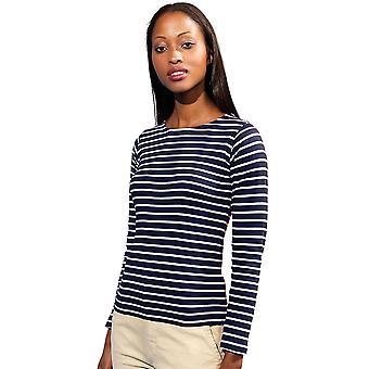 Look extérieur Womens marinière côtière T Shirt tee