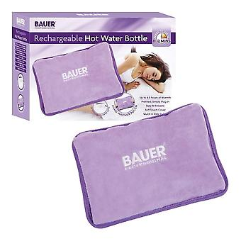 Bauer Rechargeable Electric Hot Water Bottle With Soft Touch Cover Lilac