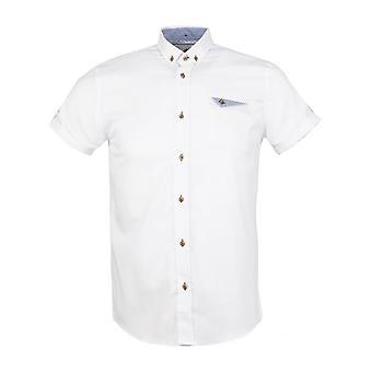 Begeleiden van Londen Oxford Mens Shirt met korte mouwen