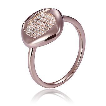 Orphelia Silver 925 ring Rose Square fyldt med zirconium ZR-7442