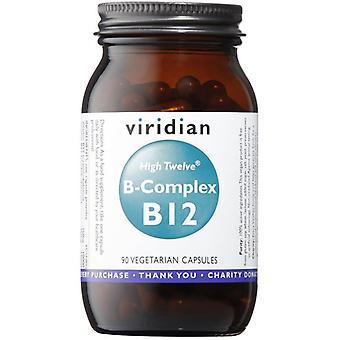 Viridian HIGH TWELVE Vitamin B12 mit B-Komplex Veg Caps 90 (257)