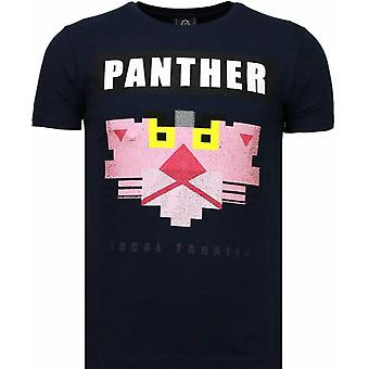 Panther For A Cougar - Rhinestone T-shirt - Blauw